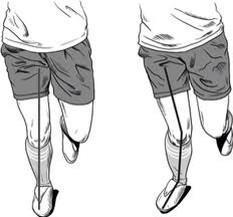 lack of dorsi-valgus knee